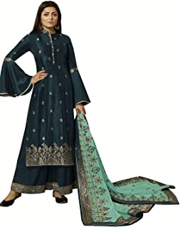 Comet Enterprise Women's Rangoli Georgette Sharara Salwar Suit (Free Size)