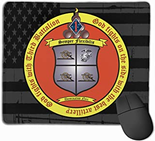3rd Battalion, 11th Marines and American Flag Mouse Pads Non-Slip Gaming Mouse Pad Mousepad
