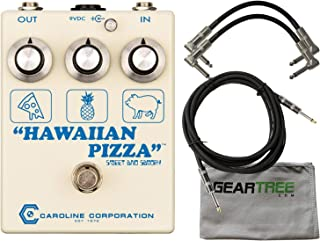 Caroline Hawaiian Pizza Fuzz Drive Fuzz Pedal w/Geartree Cloth and 3 Cables