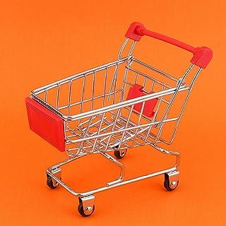 nobrands Shoppingvagn – mini shoppingvagn stormarknad vagn för husdjur leksak fågel papegoja intelligens tillväxt