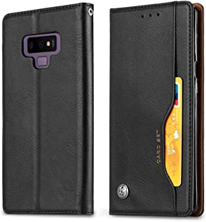 Protective Case Compatible with Samsung Compatible Samsung Galaxy Note 9 Classic Premium PU Leather Wallet Flip Protective Cover with Card Slot&Stand Phone case (Color : Black)