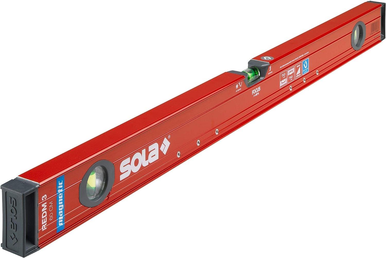 A surprise price is realized Sola 1812801 Alu Wasserwaage Länge REDM Aluminium Magnetic Spiri Super special price