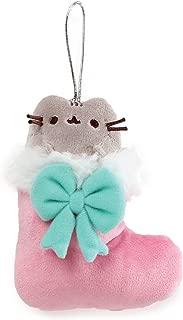 "GUND Pusheen in Stocking Christmas Ornament Plush, Multicolor, 5"""