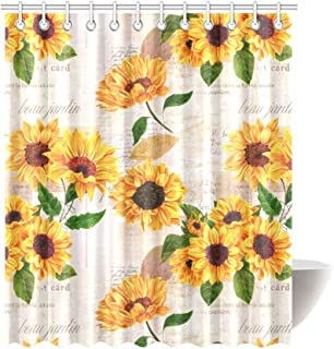 curtains sunflower