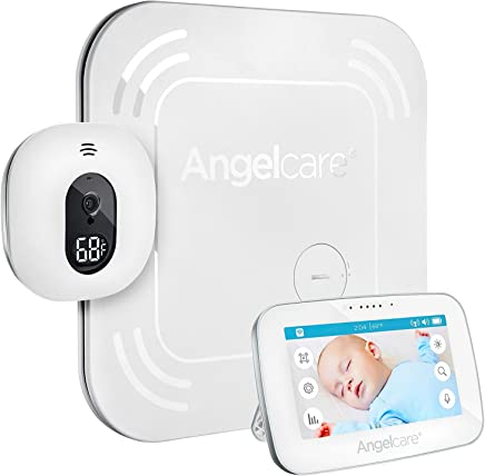 """Angelcare AC417 Touchscreen, Movement & Sound Monitor with Wireless Pad with 4.3"""" LCD Screen"""