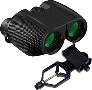 Motic53 Compact Binoculars for Kids 10x25 Lightweight High Powered for Adults, Fully Coated Lens, Excellent for Concerts, Hunting Hiking gift, Bird Watching, Sports. Package includes Cellphone Adapter