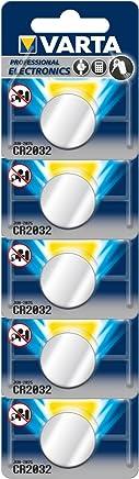 Varta Batterien Electronics CR2032 Lithium Knopfzelle 3V Batterie 5er Pack Knopfzellen in Original 1er Blisterverpackung