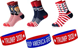 TRUMP 2020 Keep America Great Socks and Bracelets for Presidential Election Campaign