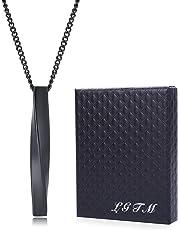 ネックレス メンズ サージカル ステンレス ロッド スティック ペンダント シンプル LGTM