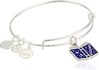 Alex and Ani Women's Color Infusion Blessings Book Charm Bangle, Shiny Silver