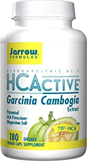 Jarrow Formulas HCActive Garcinia Cambogia Veggie Caps, Supports Appetite Control and Weight Management, 180 Capsules