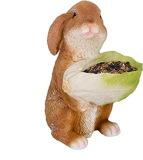 Bird Feeder Garden Decor – Squirrel Feeders for Outside – Resin Construction – Rabbit Shaped Squirrel Feeder – Cute Design...
