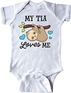 My Tia Loves Me with Sloth and Hearts Infant Creeper