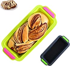 Silicone Bread Pan Loaf Pan,Nonstick Loaf Mould Baking Toast Mold Bakeware Pans for Homemade Cakes, Breads, Meatloaf,Green...
