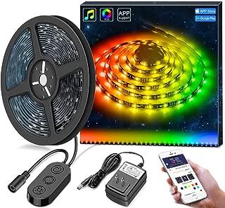 DreamColor LED Strip Lights, MINGER 9.8FT LED Lights Music Sync, Waterproof RGB Rope Light APP Control, Flexible 5050 LED Tape Lighting Kit for Bedroom, Desk, Gaming, TV, 12V ETL Listed Power Supply