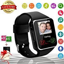 Android Smart Watch Bluetooth Smart Watch with Camera SIM Card Slot Touch Screen Smartwatch Fitness Tracker with Sleep Monitor Pedometer Sports Activity Tracker Compatible for Android iOS Smartphones