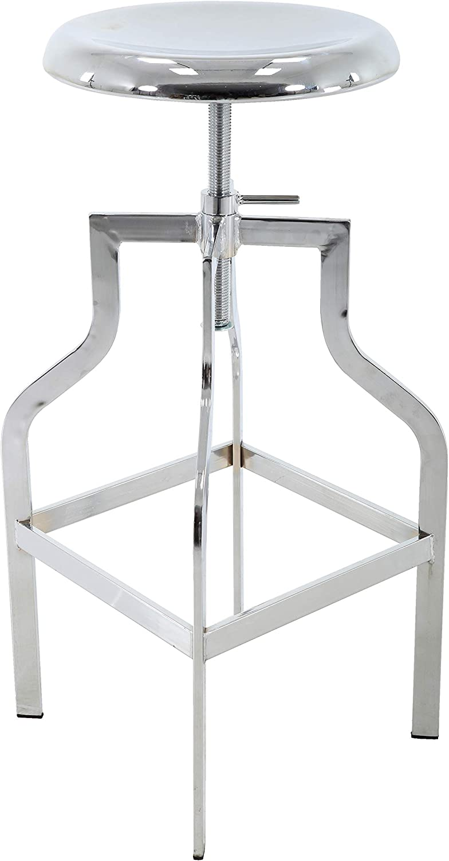Brage Living Height Adjustable Time sale Round Portland Mall Seat C - Top Metal Barstool