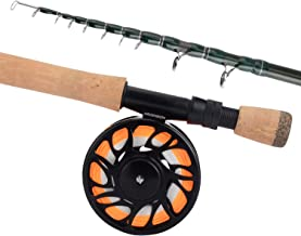 KastKing New Ascension Soloscopic Fly Rod and Combos, IM6 Graphite Blank, Fixed & Floating Guides, CNC Aluminum Reel with Line & Backing, Lightweight Travel & Storage Case