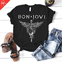 Bon Jovi t-shirt American Rock band unisex tee t-shirt Jon Bon Jovi livin` on a Prayer gifts for her and him Bella Canvas