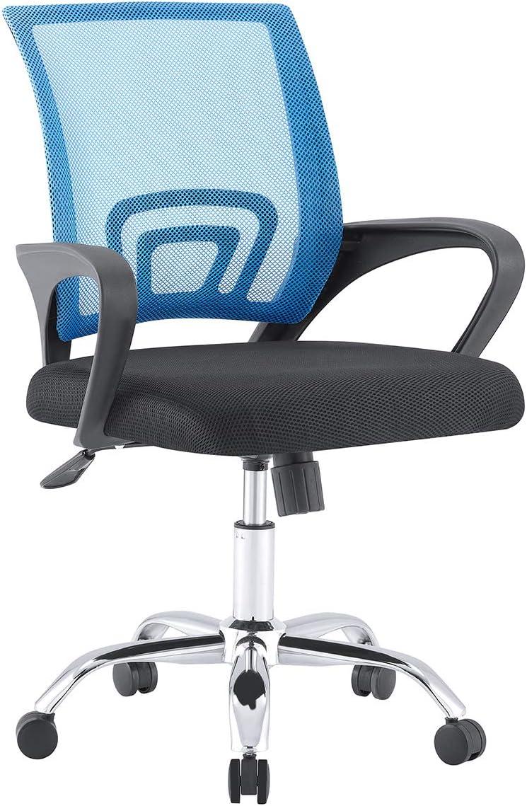 Sillas de Malla Silla de Oficina en casa de Altura Ajustable Sillas de computadora reclinables para Sala de Estar Muebles de Oficina en casa,94 CM