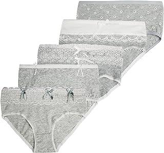 982c7e7ae55c Farlenoyar Women Girls 5 Pack Cotton Lace Cute Soft Briefs Underwear Beach  Bikini Dailywear Pants