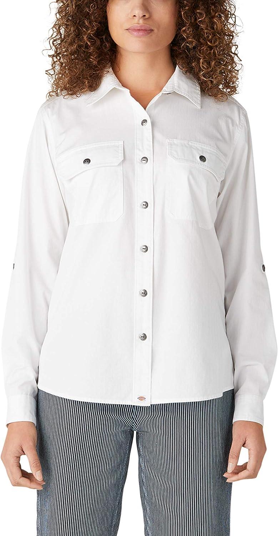 Dickies Women's Long Sleeve Roll-tab Work Shirt