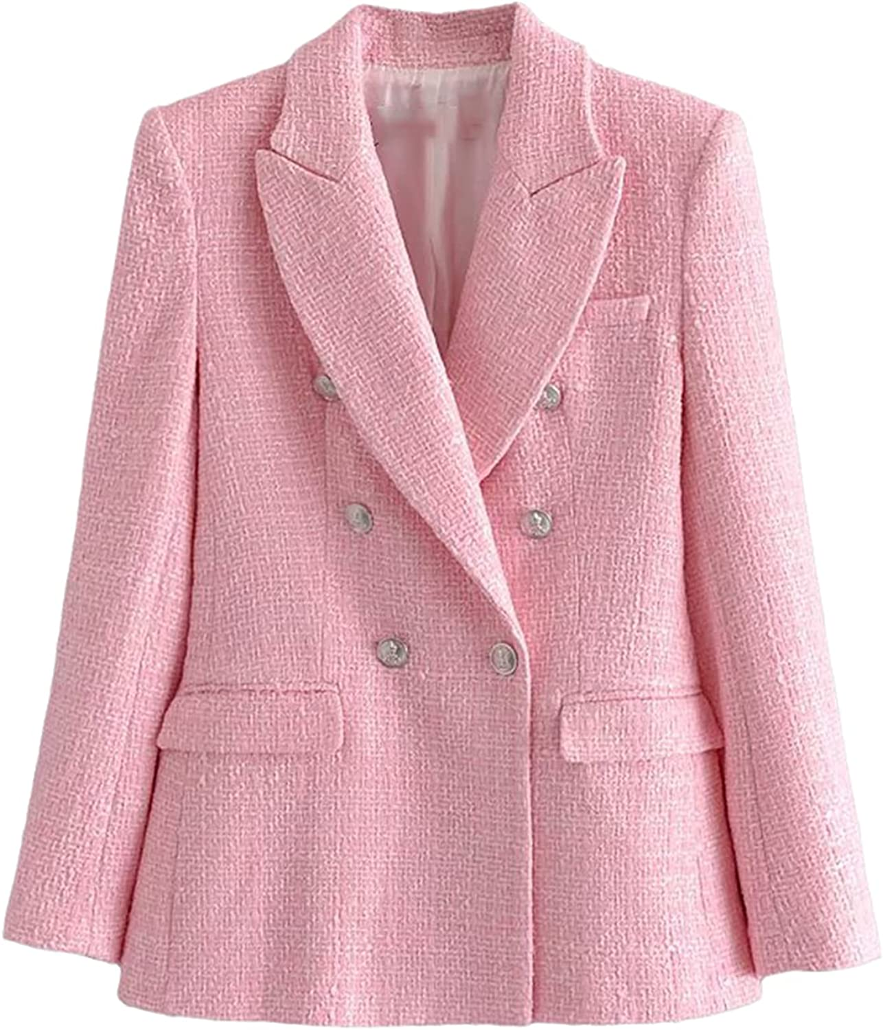 Women Two Pieces Set Tweed Textured Blazer and Shorts Suit Fashion Casual Chic Lady Outfits Suit