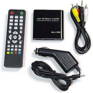 メディアプレーヤー 車載 マルチメディアプレーヤー HDMI RCA フルHD ISO対応 動画 音楽 再生 USBメモリ SDカード HDD接続可 シガーアダプター付属 AV-HD03