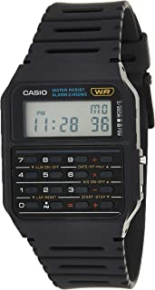 Casio Calculator Unisex Digital Dial Rubber Band Watch - CA53W-1Z, Quartz
