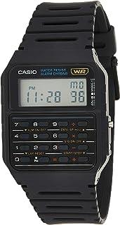 ساعة كاكوليتور لكلا الجنسين بشاشة رقمية وسوار مطاطي وحركة كوارتز من كاسيو - CA53W-1