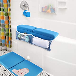 Bath Kneeler with Elbow Rest Pad Set with Bath-tub Spout Cover, Hoohome Baby Bath Set,X-Long, Thick, Knee Cushioned Bathtu...