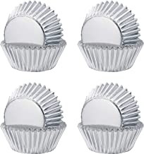 Sumind Foil Metallic Cupcake Case Liners Muffin Paper Baking Cups (Silver, 400 Pieces)