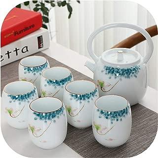 Ceramic tea sets teapot tea cup porcelain handpainted chinese Kung fu tea sets teaware sets drinkware,Style B