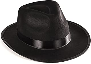 Black Gangster Hat - Black Fedora Hats - Costume Hats - Costume Accessories