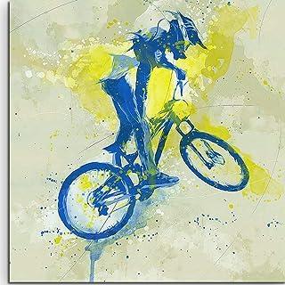 Pintar por numeros Adultos DIY Pintura Digital Colorear 40x40cm Acrílico Adulto Regalos de juguete de dibujo para niños, dormitorio renovación del hogar Jinete de bicicleta de montaña retro