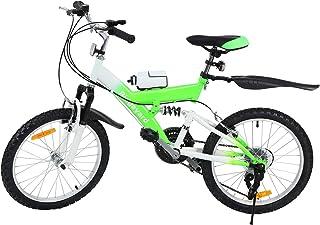 MuGuang Bicicleta de Montaña 20 Pulgadas Bicicleta Infantil 6 Speed Come with 500cc Kettle para Ni