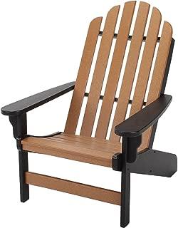 Original Pawleys Island DWAC1BLKCD Durawood Essentials Adirondack Chair, Black/Cedar