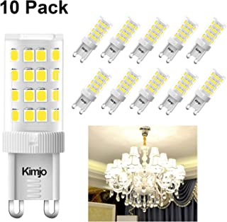 Bombillas LED G9 5W Kimjo Blanco Frío 6000K Equivale 40W Halogenos, 400LM 80Ra 230V 360°ángulo de haz No Regulable Pack de 10