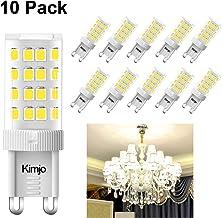 Bombillas LED G9 5W Kimjo Blanco Frío 6000K Equivale 40W Halogenos, 400LM 80Ra 230V 360°ángulo de haz No Regulable Pack de 10