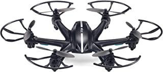 TOZO MJX X800 2.4GHz 6 Axis RC Remote Control Hexacopter UFO Drone 3D Roll with Gravity Sensor Remote Quadcopter Helicopter (Without Camera)-Black