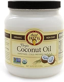 Aunt Patty's Organic Virgin Coconut Oil Unrefined, 54 Fluid Ounce