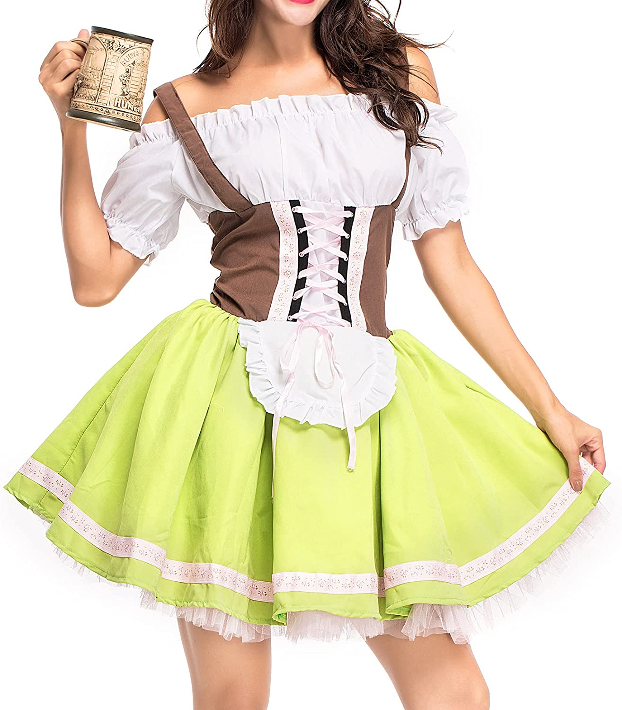 Lu's Chic Women's Costume Dress Dresses Purchase Some reservation Dirndl Carni Oktoberfest