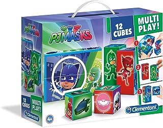 Clementoni Multi Play Cubes Pj Masks 12-Pieces Puzzle, Multi-Colour