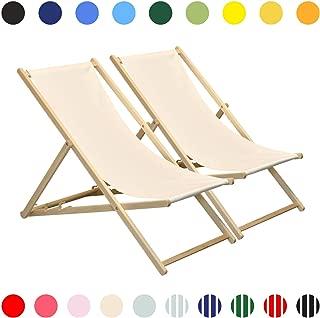 200x70x111 cm Relaxdays Tumbona Plegable con Protector Solar Beige