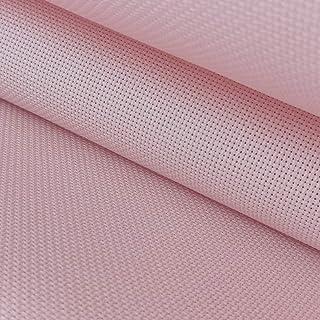 "59""x 1 Yard 14ct Counted Cotton Aida Cloth Cross Stitch Fabric (Pink)"