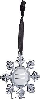Kate Aspen Christmas Photo Frame Ornaments Silver Snowflake Tree Hanging Picture Keepsake Set of 4