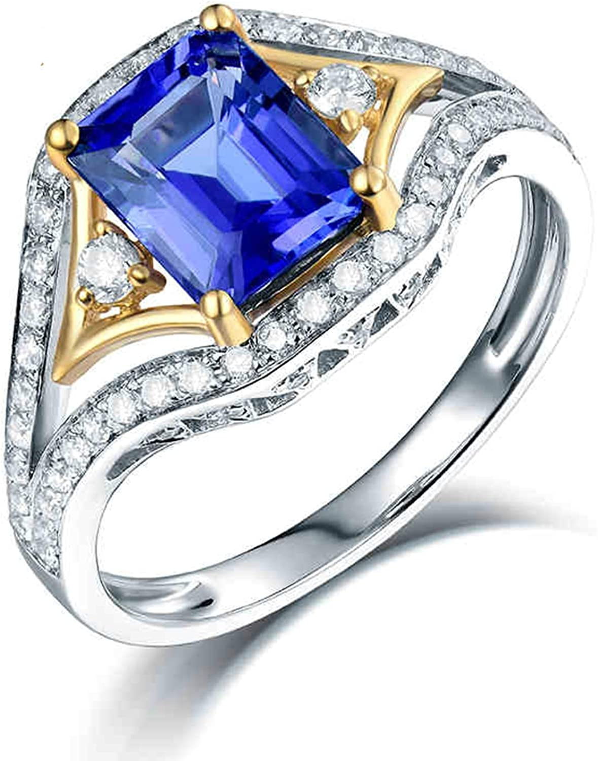 AMDXD White Gold Max 67% OFF Rings for Ring Outlet SALE Wife 1.46 Anniversary Women