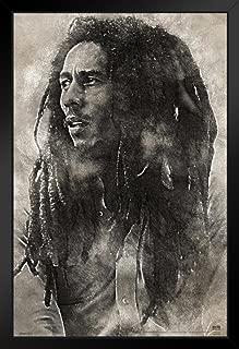 Pyramid America Bob Marley Conquering Lion Music Black Wood Framed Art Poster 14x20