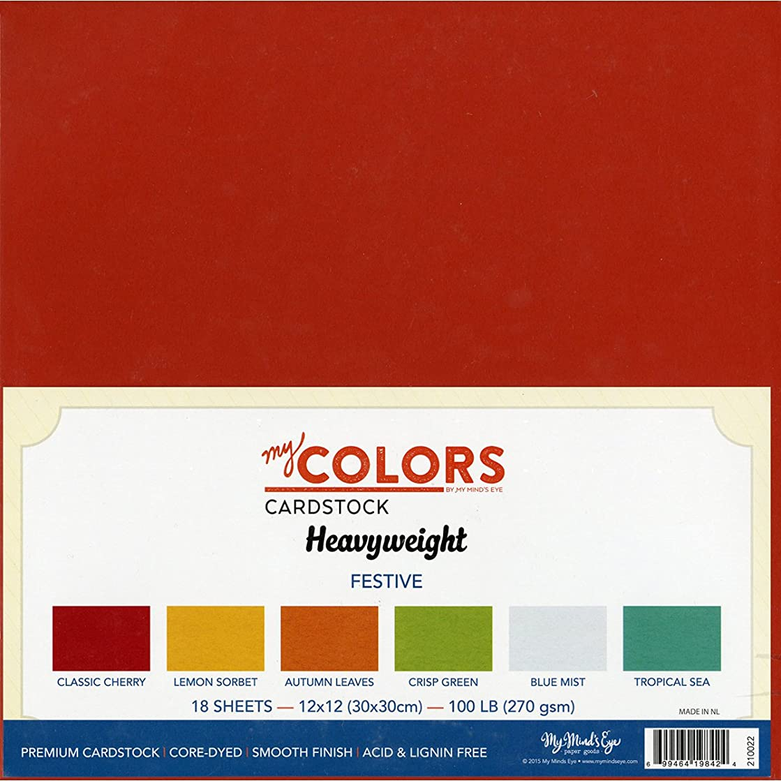 My Colors Cardstock 12 x 12-Inch Festive Colours Heavyweight Cardstock Bundle,