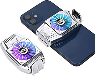 MIKUL Cell Phone Cooler with 300mAh Battery, Mobile Phone Radiator for Playing Games Watching Videos with LED Light, Coole...